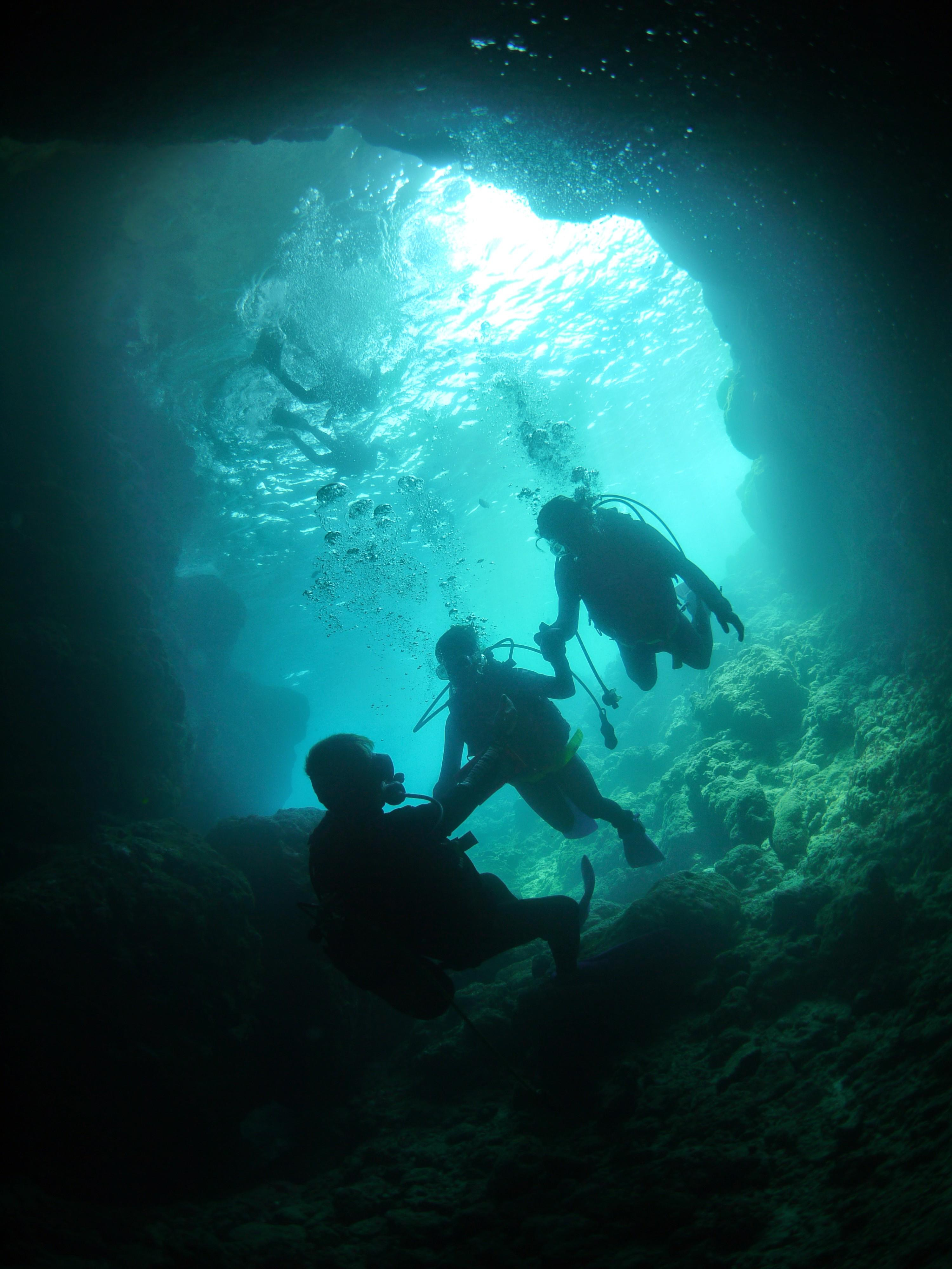 Blue cave boat experience dive